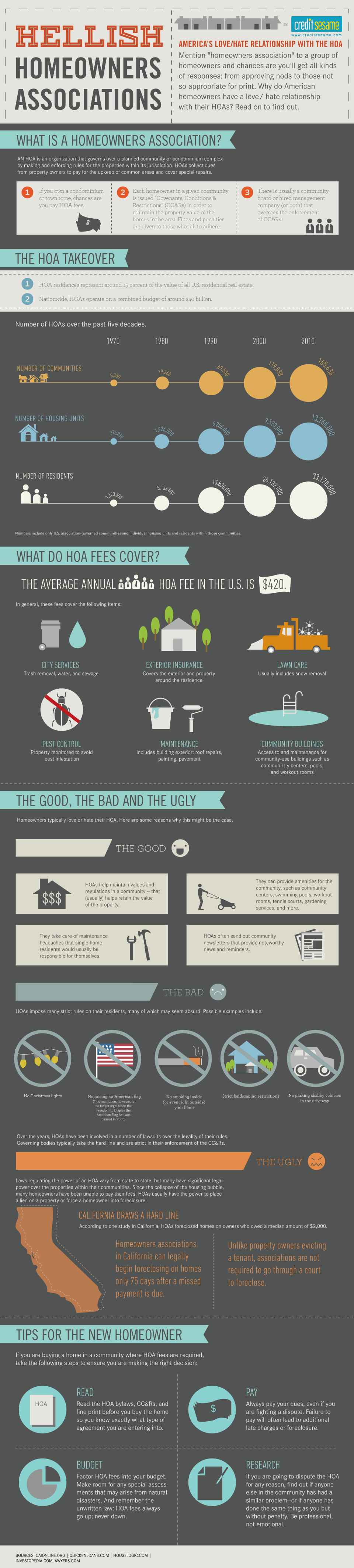 Homeowners' Real Estate Infographic Provided By CreditSesame.com