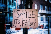 smile it's friday sign