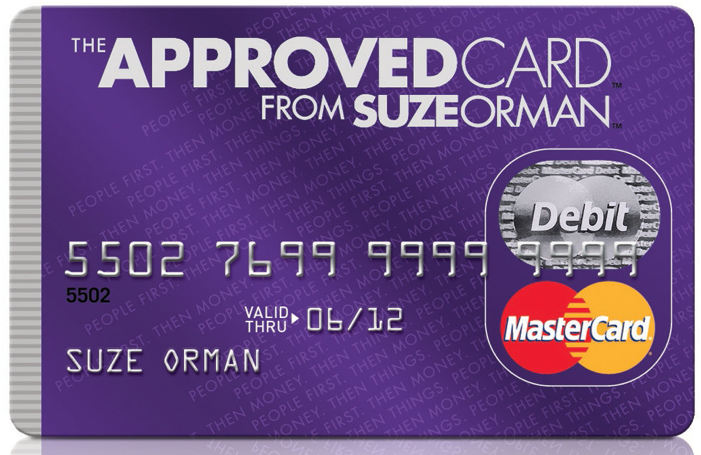 credit card suze roman The approved card from suze orman, a prepaid debit card, will no longer work as of july 1, 2014 if you have a suze orman approved card, here's what you need to know.