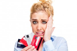 woman worried about credit card debt