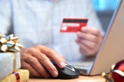 holiday shopping online with a credit card