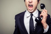 debt collector yelling on the phone
