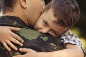 military father with son