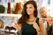 teen shopping with credit card