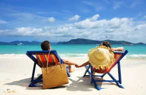 Couple on Tropical Beach Vacation