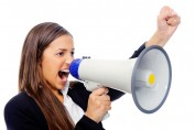 Talking about id theft (megaphone)