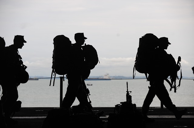 deployed military soldiers