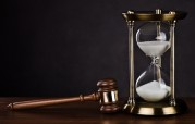 gavel and hourglass