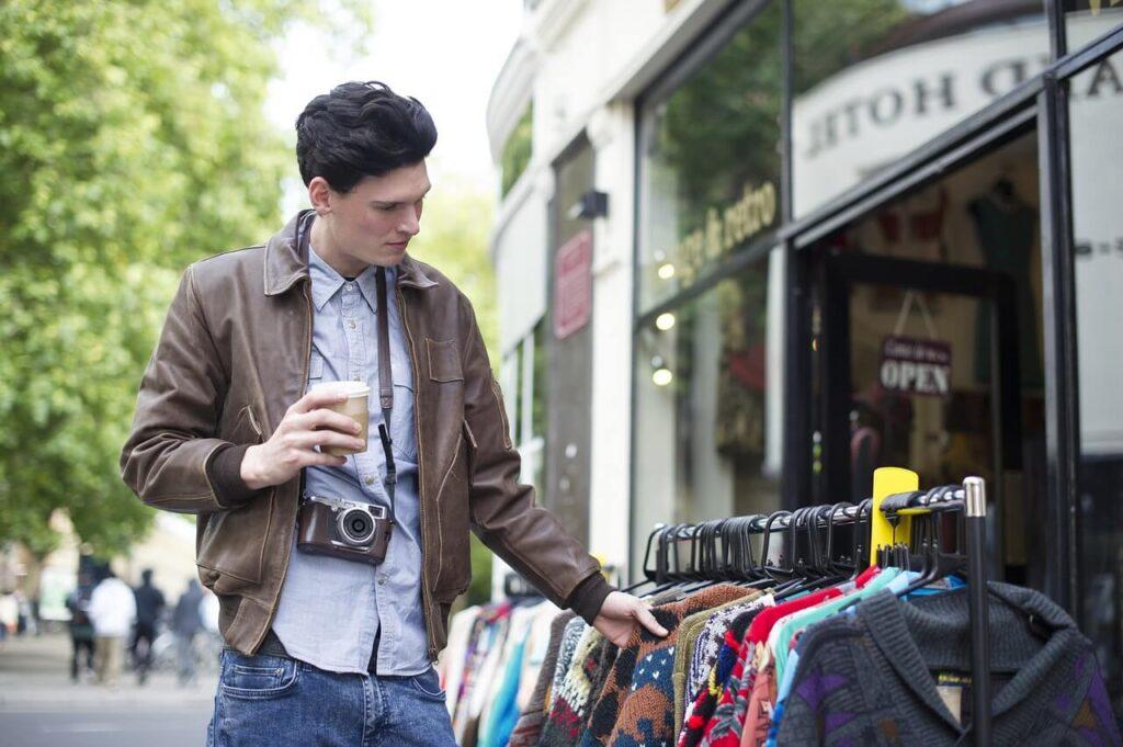young man browsing