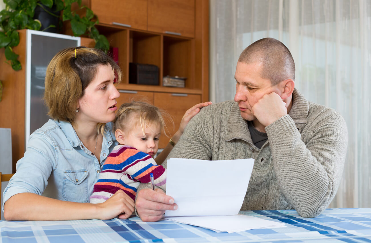 Family struggling financially