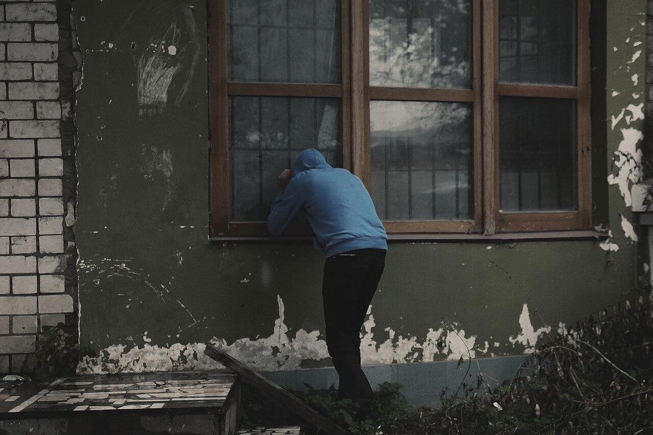Thief looks in windows